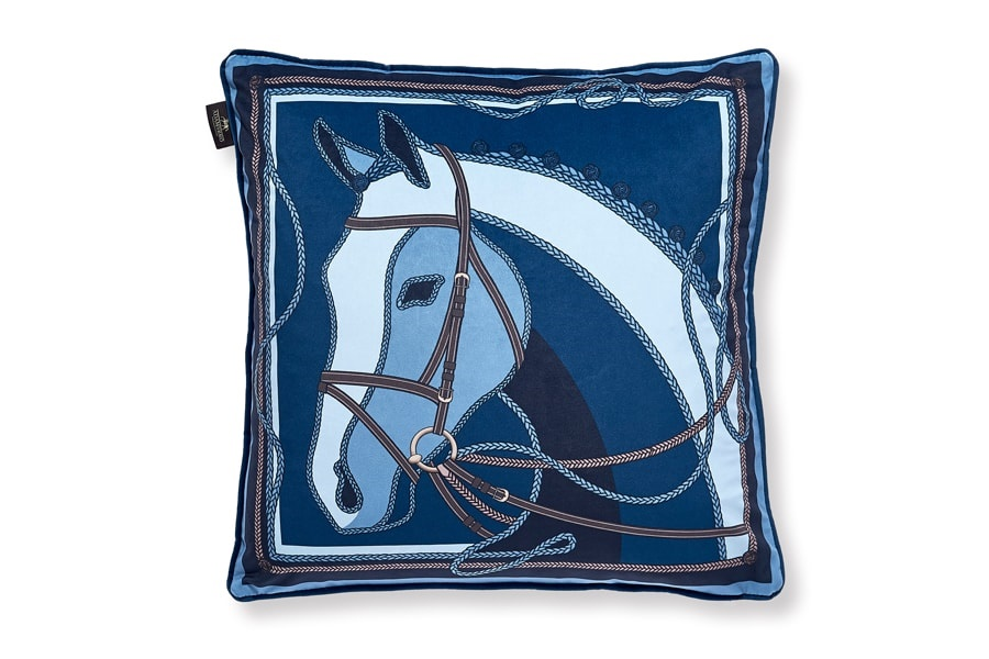 ADAMSBRO - Blue Horse Cushion