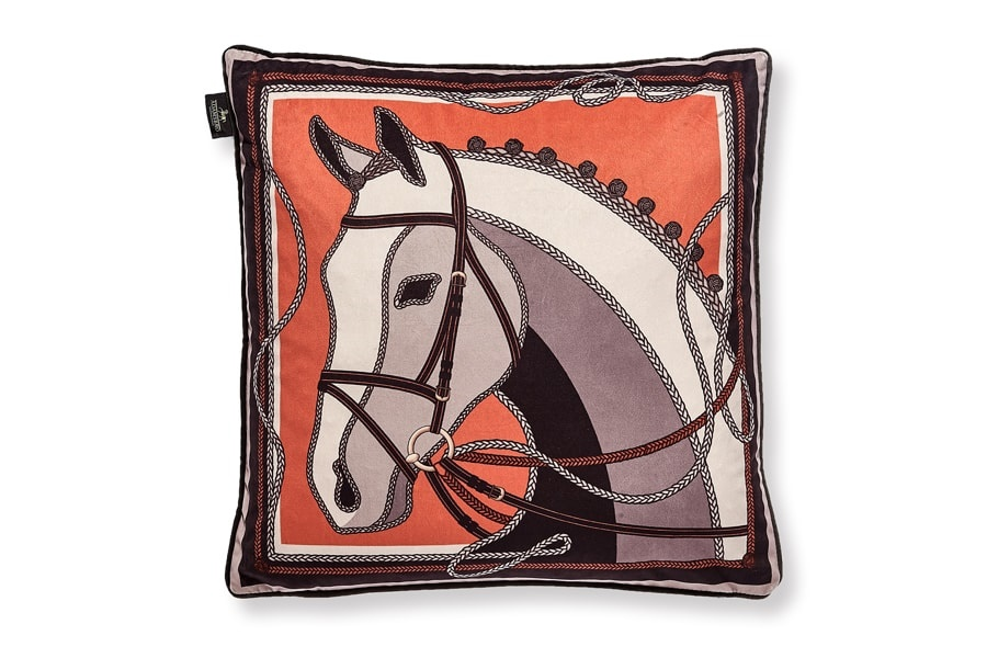 ADAMSBRO - Orange Horse Cushion
